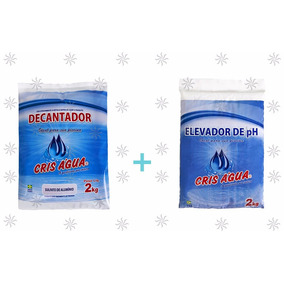 5 Barrilha Leve + 5 Sulfato De Alumínio Para Piscina 2kgcada