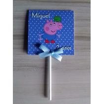 10 Capas Para Pirulito Personalizadas George Pig