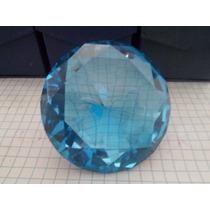 Figura Cristal Grande Diamante 8 Cm Recuerdos Azul Turquesa