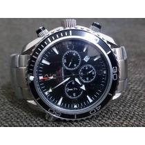 Relógio 007 Omega Prata Dial Preto Frete Gratis