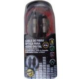 3 Pzas Cable De Fibra Optica 2 Metros Audio Digital Toslink