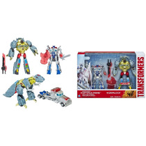 Transformers Optimus Prime Silver Knight And Grimlock Novo