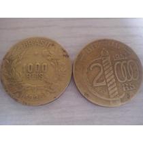 Lote 2 Moedas 2000 E 1000 Réis 1927-1937