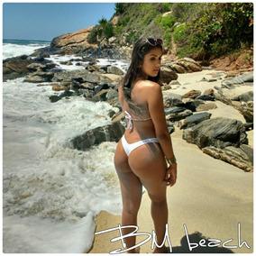 Biquini Asa Delta Com Bojo Fio Dental Bm Beach