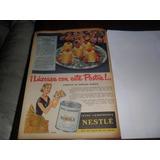 Antigua Publicidad 1954 Leche Condensada Nestle Receta Postr