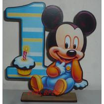 36 Souvenirs Fibrofacil Mickey Bebe 1 Año + 1 Central
