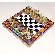 Xadrez Espanhóis X Incas Jogo Tabuleiro Artesanal Médio