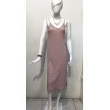 Vestido De Morley 3/4 Largo Con Tajo. 3 Colores Muy Frescos!