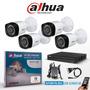 Kit Seguridad Dahua 4 Canales +4 Bullet+fuentes+pulpo 720p