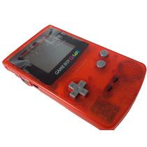 Game Boy Color Clear Red Zero Novo