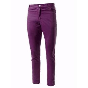 Pantalon De Gabardina Elastizada Chupines Colores