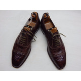Zapatos Antiguos Para Hombre Sistema Delgado Talle 41 Cuero