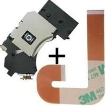 Combo Leitor Óptico Pvr 802w Ps2 Slim Unidade + Cabo Flat J