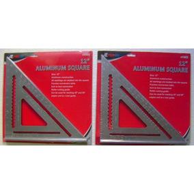 2 Escuadras De Aluminio 12 Para Carpinteria Nuevas!