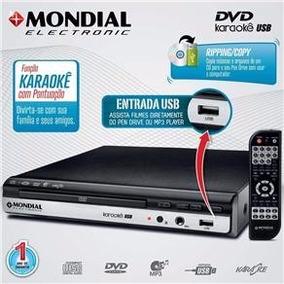 Dvd Player Mondial D-15 Com Karaokê, Entrada Usb E Ripping