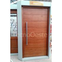 Puerta Pivotante Madera Lustrada Carpincruz Flaminia 120x220
