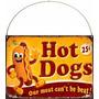 Cartel Chapa, Publicidad Antigua, Hot Dogs Panchos Deco 044
