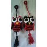 Lechuzas Tejidas Al Crochet En Hilo De Algodón