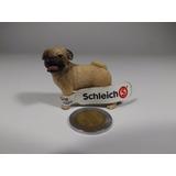Figura Schleich Bonito Perro Pug Adulto Macho, Café