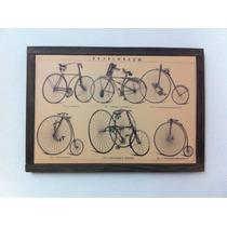 Cuadro Decorativo Bicicletas Antiguas (envio Incluido)