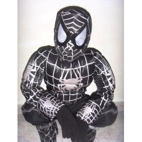 Disfraz Hombre Araña Negro Venom Spiderman Linterna Verde
