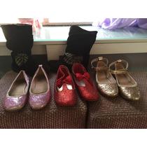 Kit Sapatos Infantis (bota ,sapatilhas Com Glitter Tam 30
