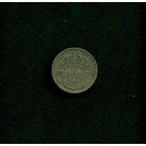 Moeda Suecia 10 Ore 1929 -g- Prata