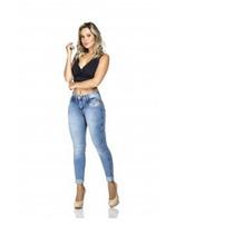 Calças Jeans Empório Feminina Azul Claro Com Brinde Surpresa