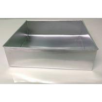 Forma Quadrada Pra Bolo Aluminio 35 X 10 Altura