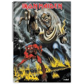Caderno 10x1 2017 Capa Dura Iron Maiden 200 Folhas C/02