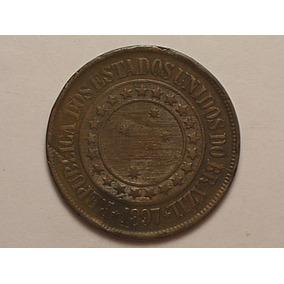 40 Réis -1897 Em Bronze / República / Brasil / (6)