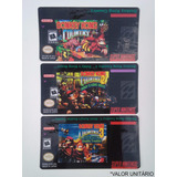 Label Cartucho Donkey Kong Country 1 2 3 Super Nintendo Snes