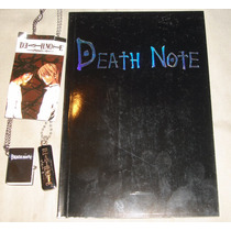 Libreta Cubierta Vinipiel - Reloj - Dije- Pluma Death Note