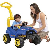 Carrinho De Passeio Criança Pedal E Empurrador Smart Azul