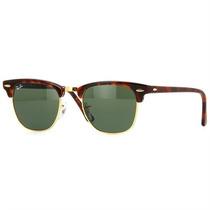 Óculos Ray Ban Clubmaster Retrô De Sol Modelo Tartaruga