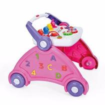 Andador Didático Rosa Para Bebê Com Atividades Poliplac