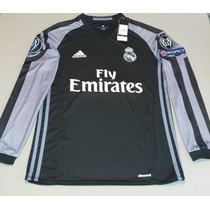 Promoción: Jersey Real Madrid Negro Manga Larga Envío Gratis