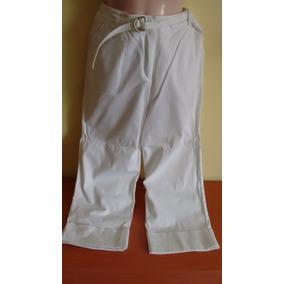 Pantalón Pesquero Blanco Tela De Gabardina Talla M