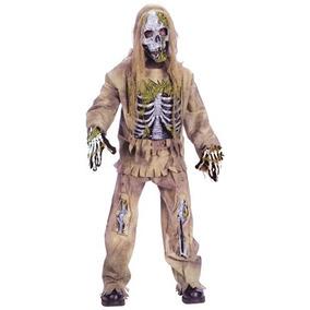 Disfraz Niño Esqueleto Zombie Muerto Halloween Terror