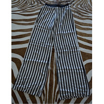 1 Puesta Pantalón Ancho Palazzo Rayas Marca Oxford Importado