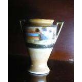 Anfora Jarrón Florero Antiguo Porcelna Japonesa Sellado 10cm
