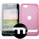 Capa Motorola Xt390 Motosmart Tpu Lisa Rosa + Película