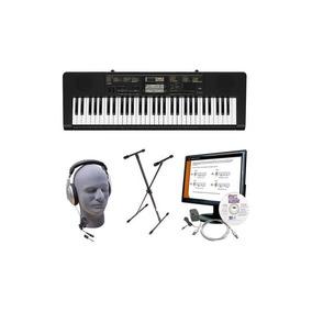 Casio - Teclado Portátil Con 61 Teclas De Piano-style - Negr