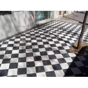Mosaico Calcáreo 20x20 Blancos Y Negros