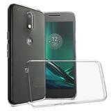 Capa Tpu + Película De Vidro Motorola Moto G4 Play Xt1600