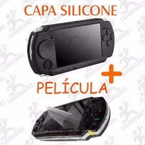Película Protetora + Capa De Silicone Psp Slim 2000/3000