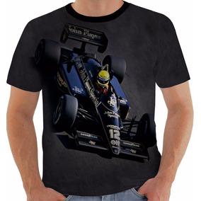 Camiseta Ou Baby Look Ou Regata Ayrton Senna 5 Lotus Fórmula