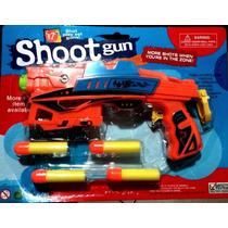 Shoot Gun Arma Combate + 4 Bastões Tiro Brinquedo Pressão