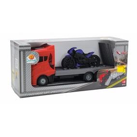 Caminhão Biker Truck Brinquedo Infantil Menino Orange Toys