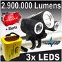 Lanterna Farol 3 Led Bike Cabeça T6 Q5 Recarregável + Alerta